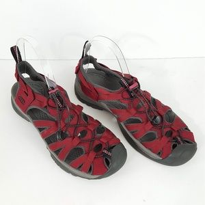 {KEEN} Red Closed Toe Water Sport Sandals 9